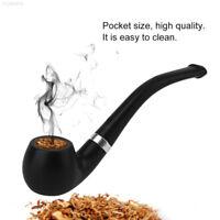 DC31 Portable Smoking Pipe Resin Pipe Gift Smoking Tools Cigarette Holder Black