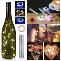 Metal Cork Shaped 20-LED String Fairy Night Lights Wine Bottle Lamp Xmas Decor