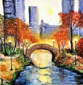 """"""" City Dawn"""" Original Painting~ De Martino Art"""