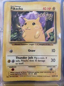 Pokemon Ultra Rare Promo Poketour 1999 Pikachu 58/102