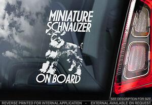 Miniature Schnauzer - Car Window Sticker - Zwergschnauzer Dwarf Dog Sign - TYP1