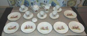 ANTIQUE NURSERY RHYME Partial Childs Tea Set LOT J
