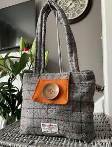 Lovely Harris Tweed Check pattern Tote Bag, Handbag