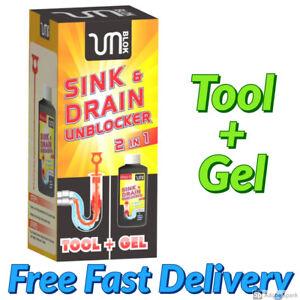 Sink & Drain Unblocked Cleaner Gel Kit Drain Opener Kitchen Hole Hair Unblock UK