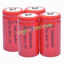 4 x c rechargeables 1,2 V Ni-Mh 9500mAh batterie cellule rouge