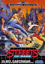 Framed Print - A4 Sega Mega Drive Game Poster – Streets of Rage (Picture Art)