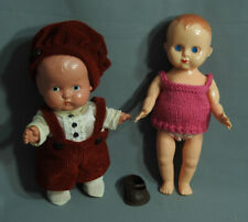 VINTAGE CELLULOID HARD PLASTIC BABY DOLLS LOT 1950'S JAPAN AND EMPIRE MADE 7,5""