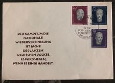 1957 East Berlin Germany DDR  First Day Cover FDC national reunification