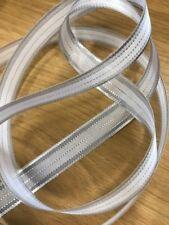 Christmas Ribbon ~ White & Silver Metallic Stripe 15mm x 4 metres