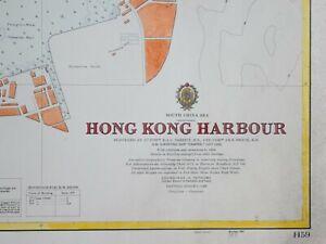 """HONG KONG HARBOUR SURVEYED BY H.M. SURVEYING SHIP """"DAMPIER"""" 1957 - 1962."""