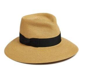 ERIC JAVITS Phoenix Squishee Packable Fedora Sun Hat Natural/Black