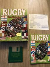 RUGBY THE WORLD  CUP COMMODORE AMIGA 500 FRANÇAIS COMPLET RARE