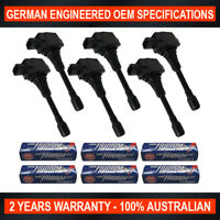 6x NGK Iridium DF Spark Plugs & 6x Ignition Coil for Nissan 370Z Skyline VQ37VHR