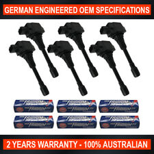 6x NGK Iridium Spark Plugs & 6x Swan Ignition Coils for Nissan 370Z Skyline VQ37