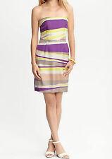 NWT Banana Republic Women Abstract Print Silk Strapless Dress Size 12