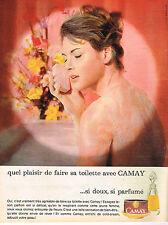 PUBLICITE ADVERTISING   1962   CAMAY   savon