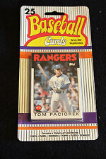 baseball cards pack old cards 80's 25 different cards per pack