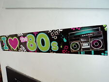 80s Fiesta Decoración-I Love The 80s Banner - 7,6 metros de largo!