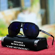 Vintage Sports Aviator Black Sunglasses Retro Style Mirror Shade New Mens Womens