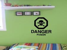 SKULL Poison Pirate Boys Kids Bedroom VInyl Wall Decal