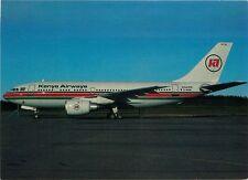 KENYA AIRWAYS AIRBUS A-310 AT STOCKHOLM-ARLANDA AIRPORT IN 1985 POSTCARD