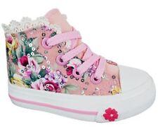 Chaussures roses zip pour fille de 2 à 16 ans