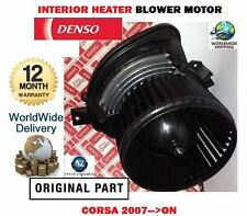 FOR VAUXHALL CORSA D 2007  NO AIR CON INTERIOR FAN HEATER BLOWER MOTOR  55702446