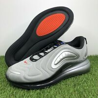 Nike Air Max 720 Sneaker Metallic Silver/Off Noir AO2924-019 Men's Size 12