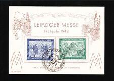 Germany Memory Card Leipzig Spring Fair Set & Special Cancel 1948 7v