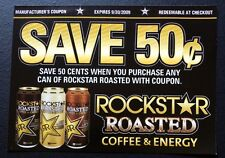 ROCKSTAR Roasted Coffee Energy Drink Coupon Exp 2009 RARE serious collector Gift