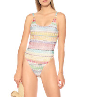 Missoni Multi Striped Mare One-Piece Swimsuit Women's Size 44 67609