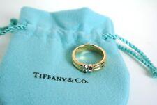 Tiffany Italy 18k YG Ruby Sapphire Band Ring - GAL Appraisal-Tiffany Pouch
