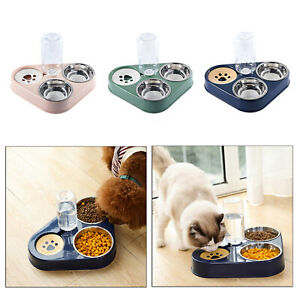 Pet Automatic Water Dispenser and Food Bowl Set Dog Cat Feeder Universal