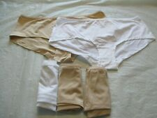 Ladies 5 Pack of  Microfibre Shortie// Knickers  Nude Size 12