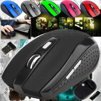 2.4GHz Wireless Cordless Mouse Mice Optical Scroll For PC Laptop Computer+ USB