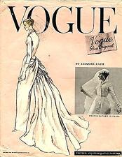 1956 Vintage VOGUE Sewing PatternB36 BRIDE BRIDESMAIDS DRESS (1836) Jacques Fath