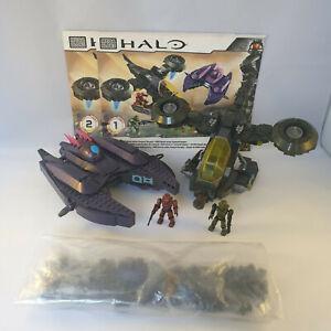 Halo Mega Bloks 97123 UNSC Hornet versus Covenant Vampire loose set lot spartan