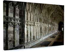STUNNING ARCHITECTURE CASTLE CORRIDOR CANVAS PICTURE PRINT CHUNKY FRAME #3747