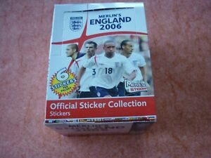 RARE TOPPS MERLIN  England 2006  BOX 50 PACKS STICKERS - MESSI ROOKIE STICKER