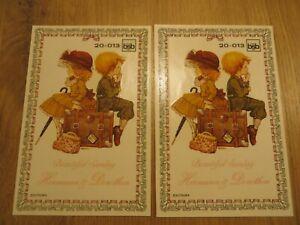 2 Bögen bsb Schiebe-, Abziehbilder 20-013 Hermann & Dorothea - Basteln -Vintage