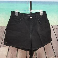 The Blues Womens Jean Shorts Size 12 Casual Black 30 x 3