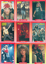 1991 ROCKCARDS 288 CARD SET W/18 STICKER SET/DEAD LEGACY SET CRUE AC/DC BON JOVI