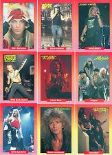 1991 ROCKCARDS 288 CARD SET W/18 STICKER SET/DEAD LEGACY SET CRUE AC/DC BON JOVI