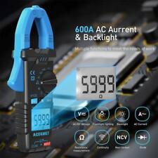 Acegmet Digital Clamp Meter Ac Dc Multimeter Ncv Amp Ohm Meter Tester Auto Range