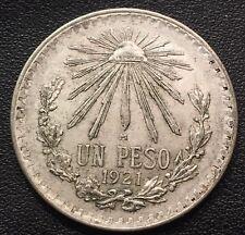 1921-1945 Silver Mexican 1 Peso Cap & Rays  Avg  Circulation  (ASW .3856 oz)