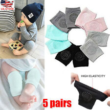 5 Pairs Baby Kids Socks Safety Knee Pads Infant Toddle Crawling Elbow Protector