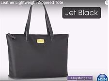 On Sale! JOY Couture Genuine Leather Lightweight Tote - Jet Black - Abx2-a