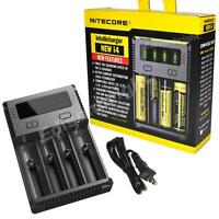 NITECORE New i4 2018 smart battery charger IMR/Li-ion/Ni-MH/Ni-Cd 18650/16340