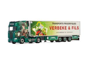 "Scania S highline CS20H reefer trailer""Verbeke Indochine""WSI truck model 01-3374"