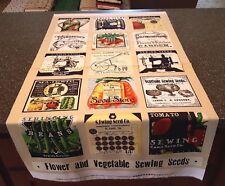 Sewing Seeds II Panel J Wecker Frisch Quilting Treasures 23x42 Blocks